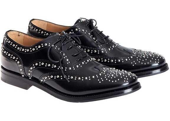Church's Burwood Shoes A73754 POLISHBINDER BLACK Black imagine b-mall.ro