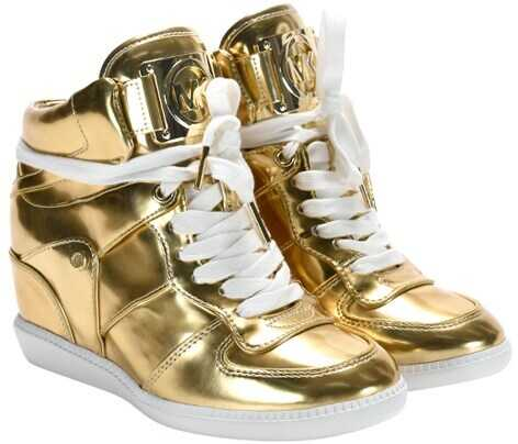Michael Kors Nikko High Top Sneakers 43R6NKME6M PALE GOLD NIKKO HIGH TOP Gold imagine b-mall.ro