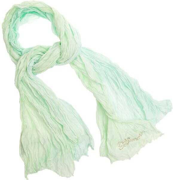 Blumarine Cotton Scarf Green