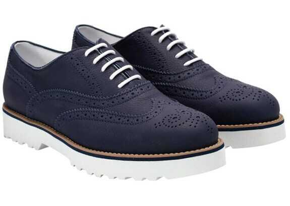 Hogan Route Francesina Shoes Blue