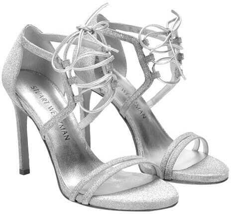 Stuart Weitzman Hottime Sandals Silver
