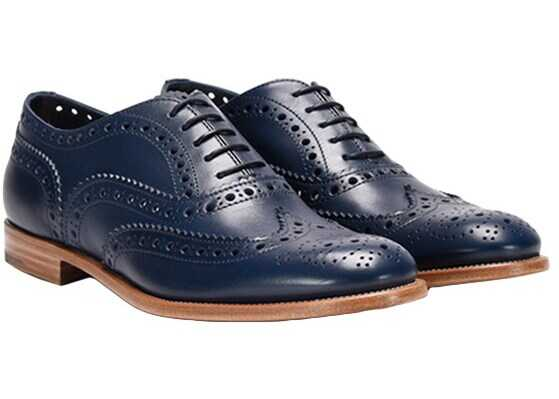 Church`s Leather Oxford Shoes Blue