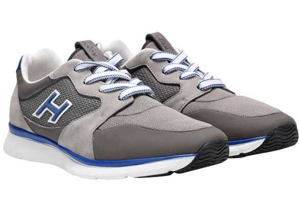 Hogan Leather And Fabric Sneakers Gray