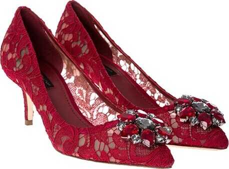 Dolce & Gabbana Lace Pumps Red