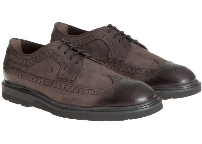 TOD'S Derby Shoes XXM0ZE00C10MVNS800 Brown imagine b-mall.ro