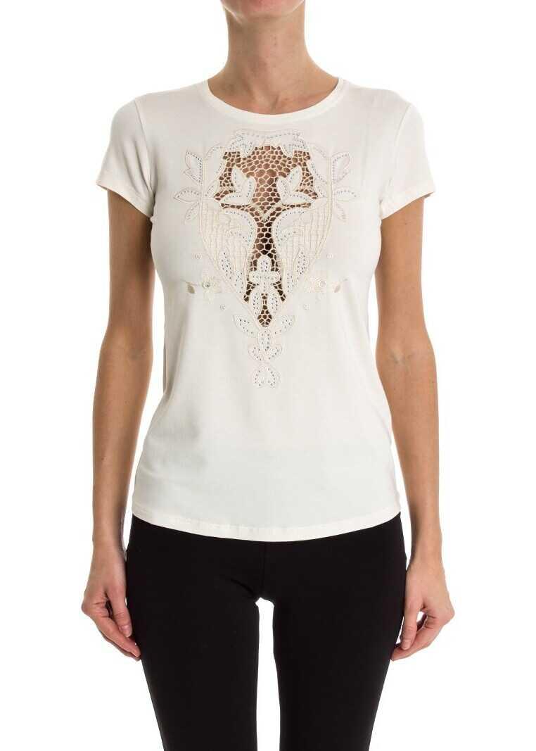 Tricou Femei Blumarine T-shirt With Swarovski Whit