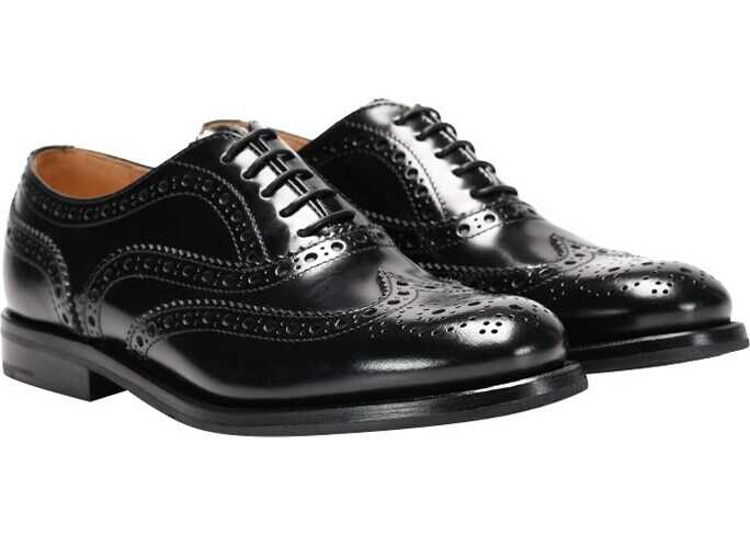 Church`s Leather Oxford Shoes Black