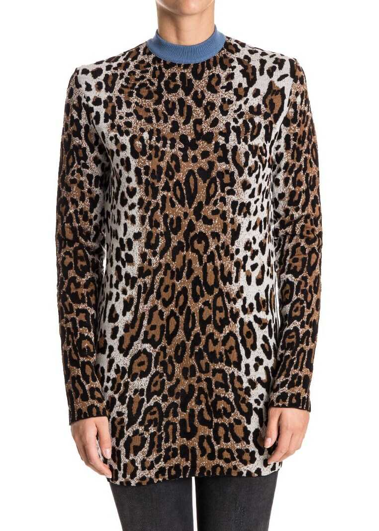 adidas by Stella McCartney Wool Blend Sweater Animal print