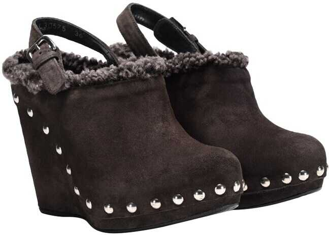 Stuart Weitzman Suede Shoes UL30575 GRIGIO VELOUR Grey imagine b-mall.ro