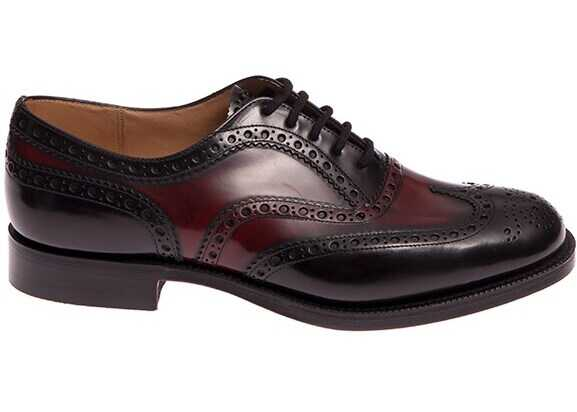 Church's Burwood Shoes EEB002 F0AKD BLACK+BURGUNDY Red imagine b-mall.ro