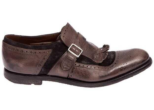 Church's Shoes EOG001 GLACE' CALF+TAR DARK GREY+ANTH Grey imagine b-mall.ro