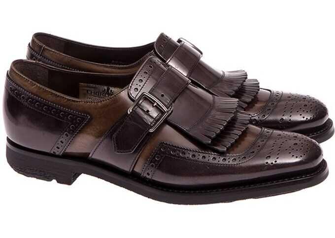 Church's Shoes DO0010 POLISHED FUME' SMOG+REED Brown imagine b-mall.ro