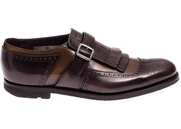 Church's Shoes EOG002 POLISHED FUME' SMOG+REED Brown imagine b-mall.ro
