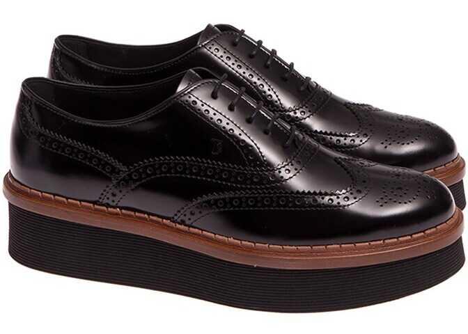 TOD'S Oxford Shoes XXW03A0R840SHAB999 Black imagine b-mall.ro