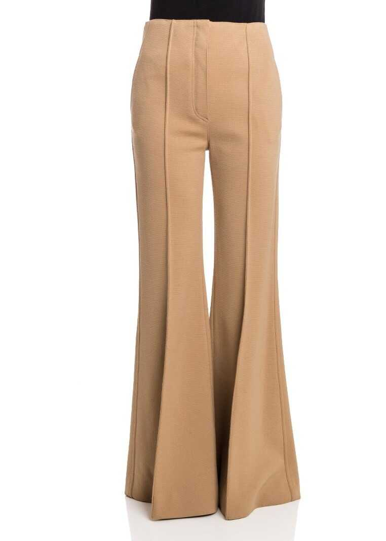 Pantaloni Femei Céline Wool Pants Camel