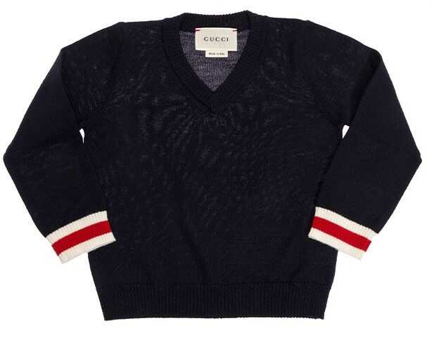 Gucci V-Neck Sweater Blue
