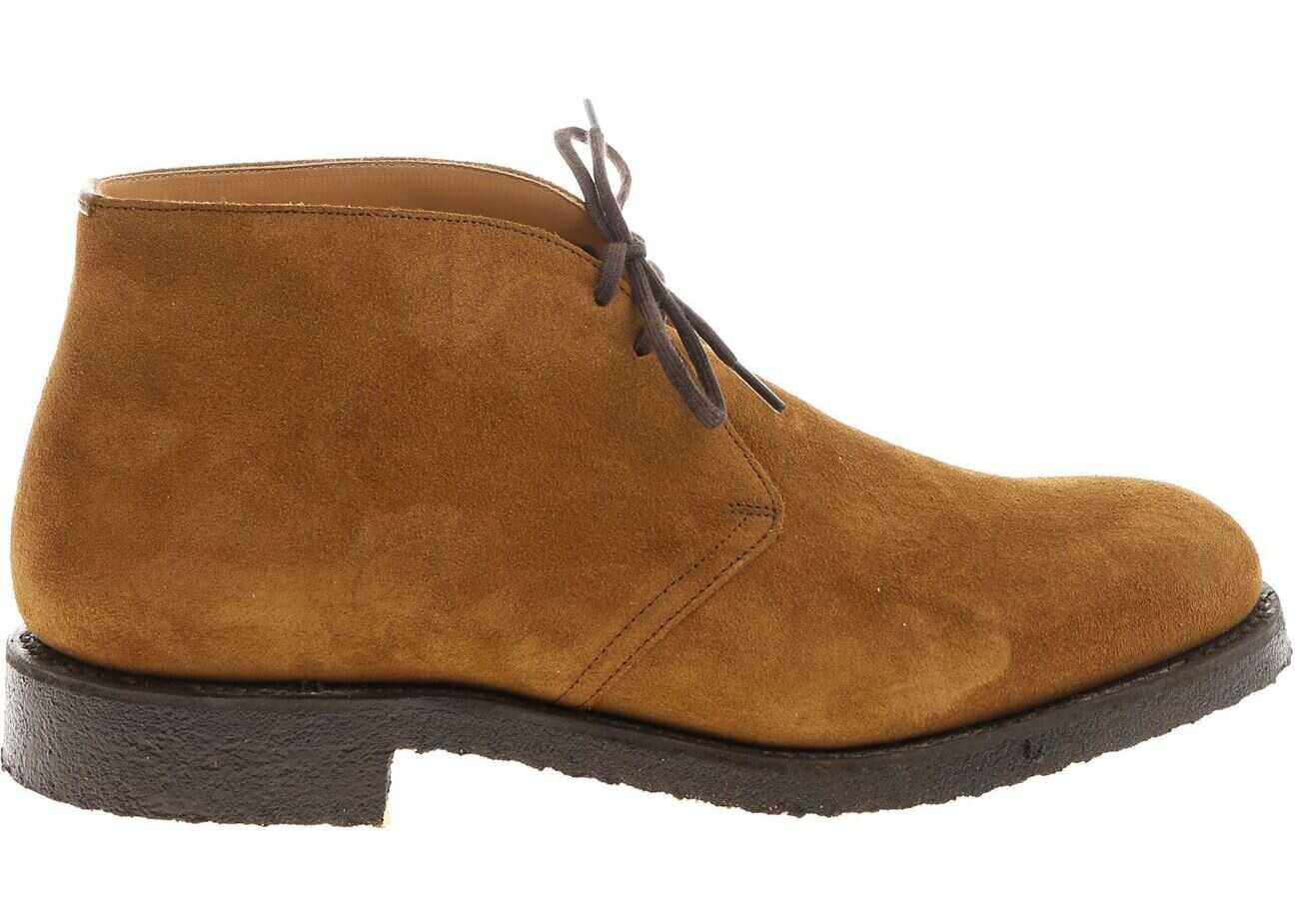 Church's Camel Desert Ryder Shoes ETC002 9VE F0AAY Camel imagine b-mall.ro