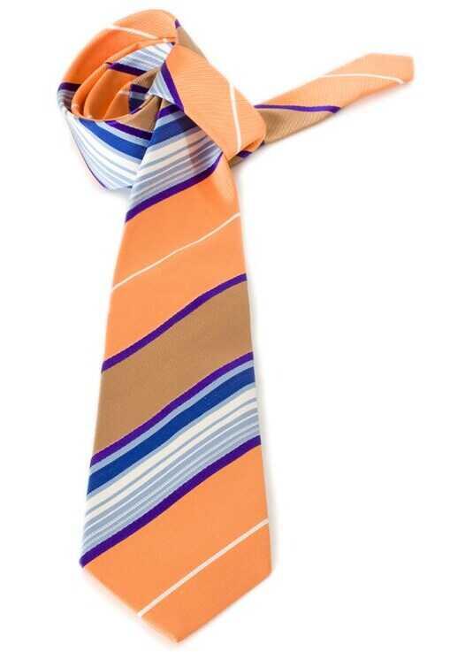 ETRO Silk Tie Orange