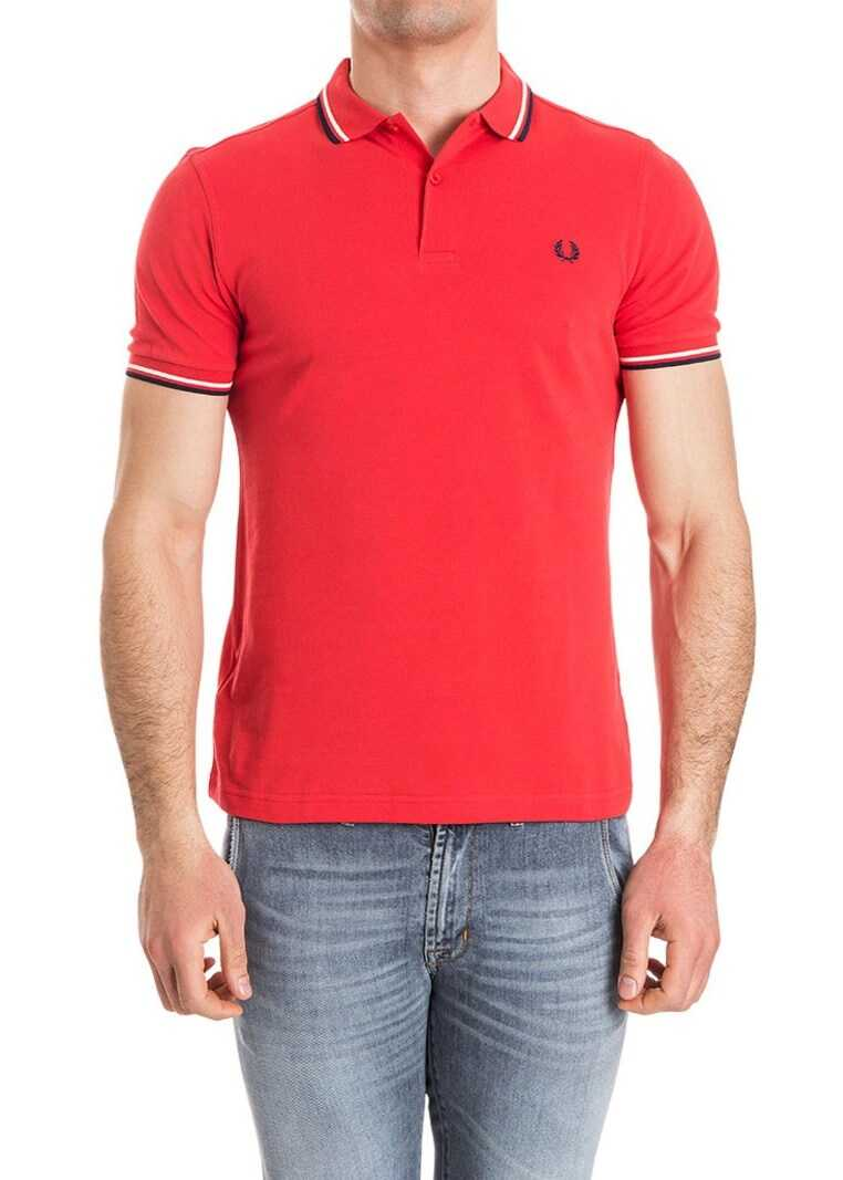 Fred Perry Cotton Polo Red