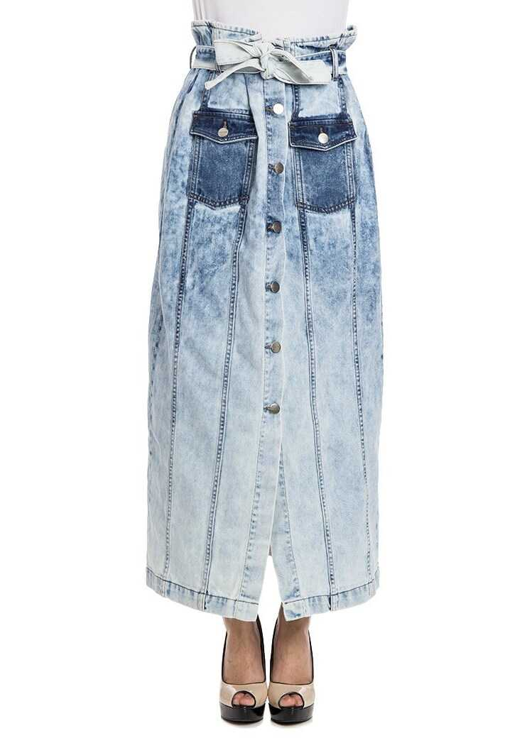 Fusta Femei Each X Other Long Skirt Light Blue