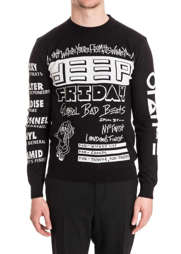 Pulover Barbati Kenzo Crew Neck Sweater Black