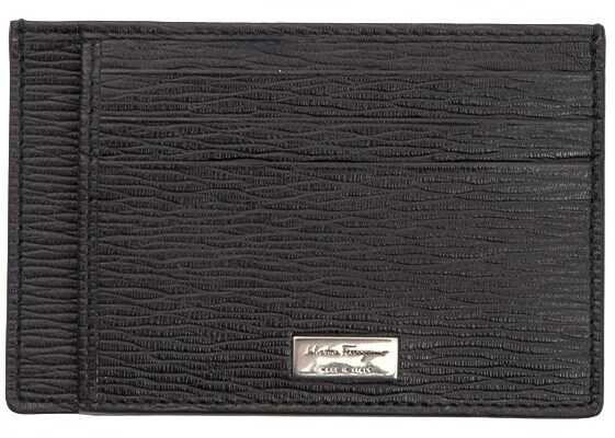 Salvatore Ferragamo Leather Card Holder Brown