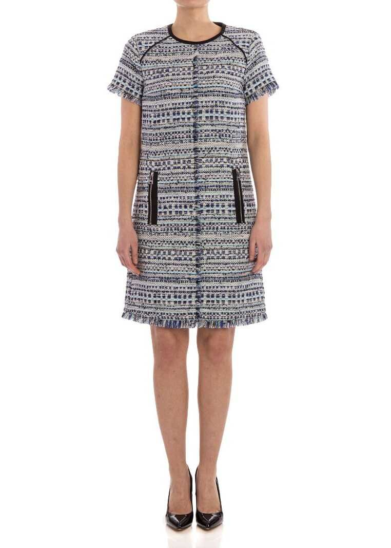 Karl Lagerfeld Karl Bouclé Dress White