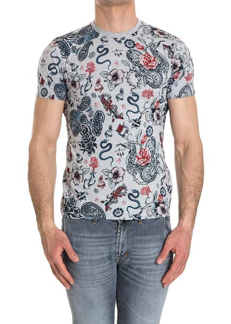 ETRO Cotton T-Shirt Gray