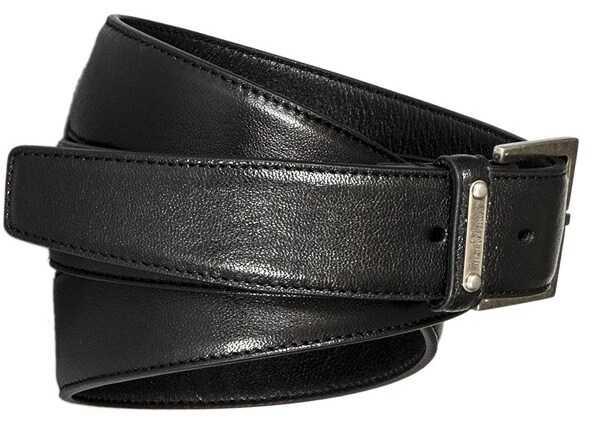 Saint Laurent Leather Belt Black