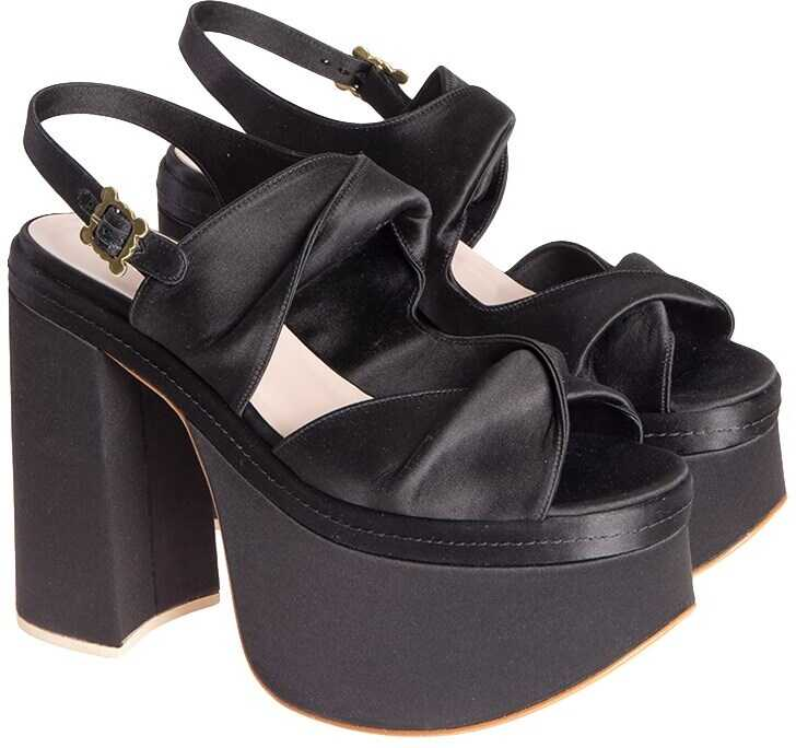 Vivienne Westwood Satin Sandals Black