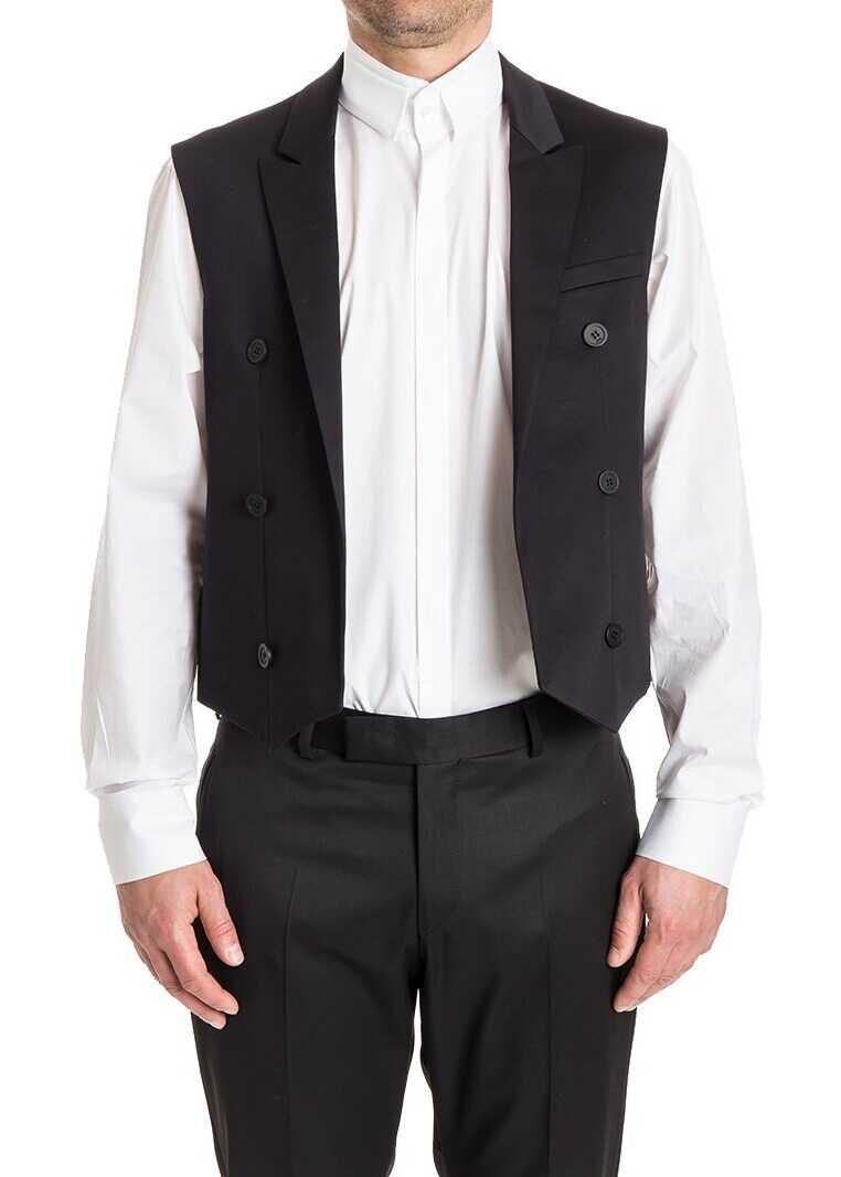 Karl Lagerfeld Double Brested Vest Black imagine