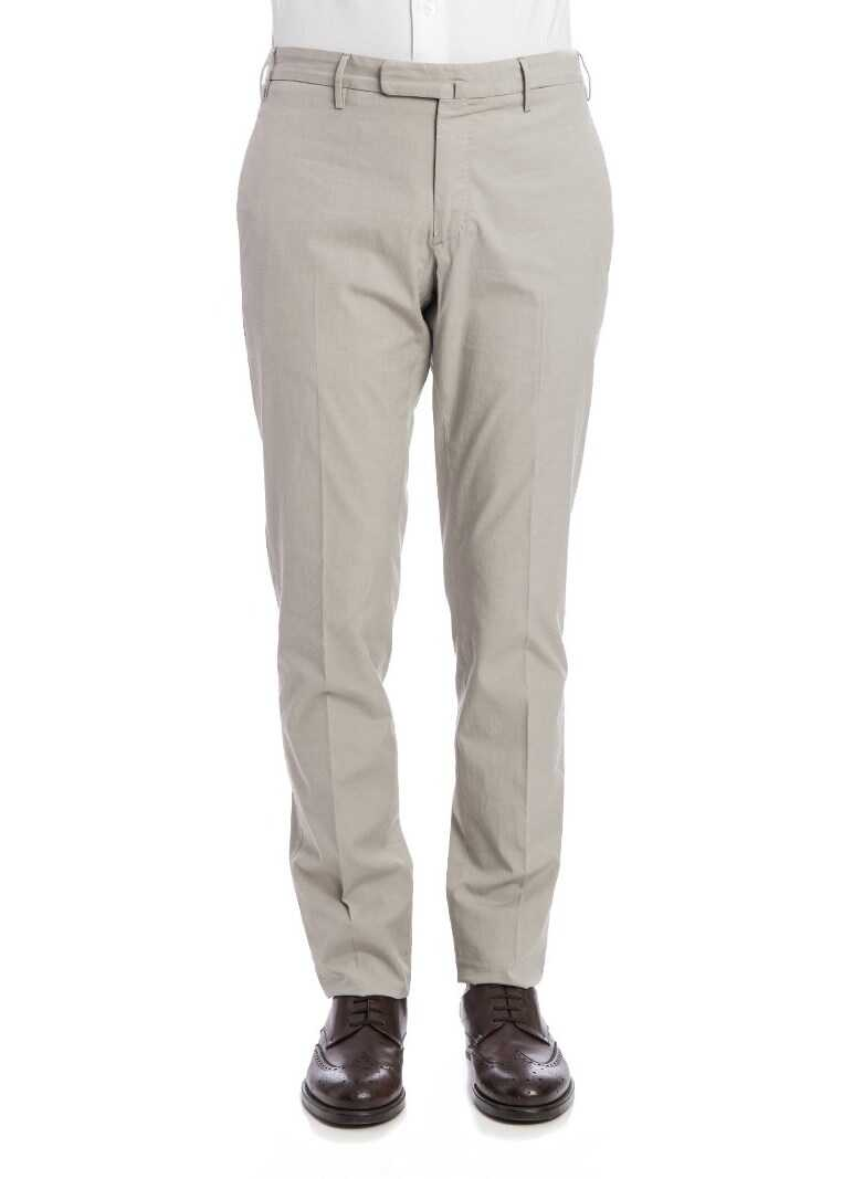 Incotex Stretch Cotton Trousers Gray
