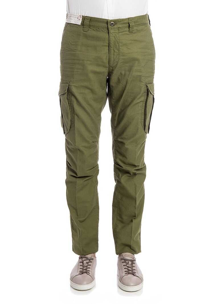 Incotex Cargo Pants Green