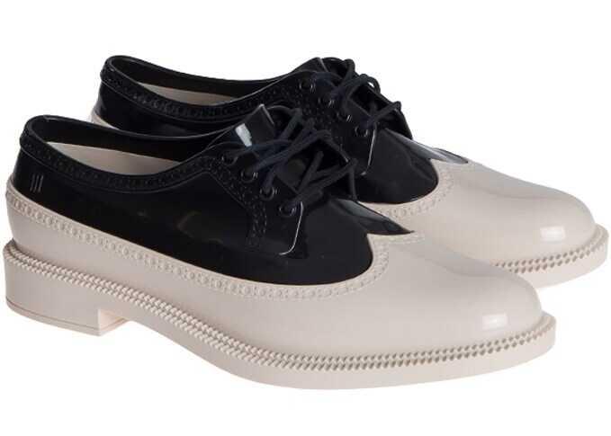 MELISSA Pvc Derby Shoes 32182 51496 BLACK/BEIGE Black imagine b-mall.ro