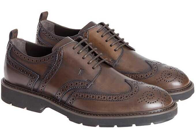 TOD'S Derby Shoes XXM46A0U180D9CS801 Brown imagine b-mall.ro