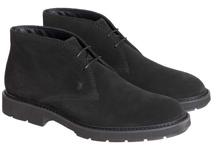 TOD'S Desert Shoes XXM46A00D80HSEB999 Black imagine b-mall.ro