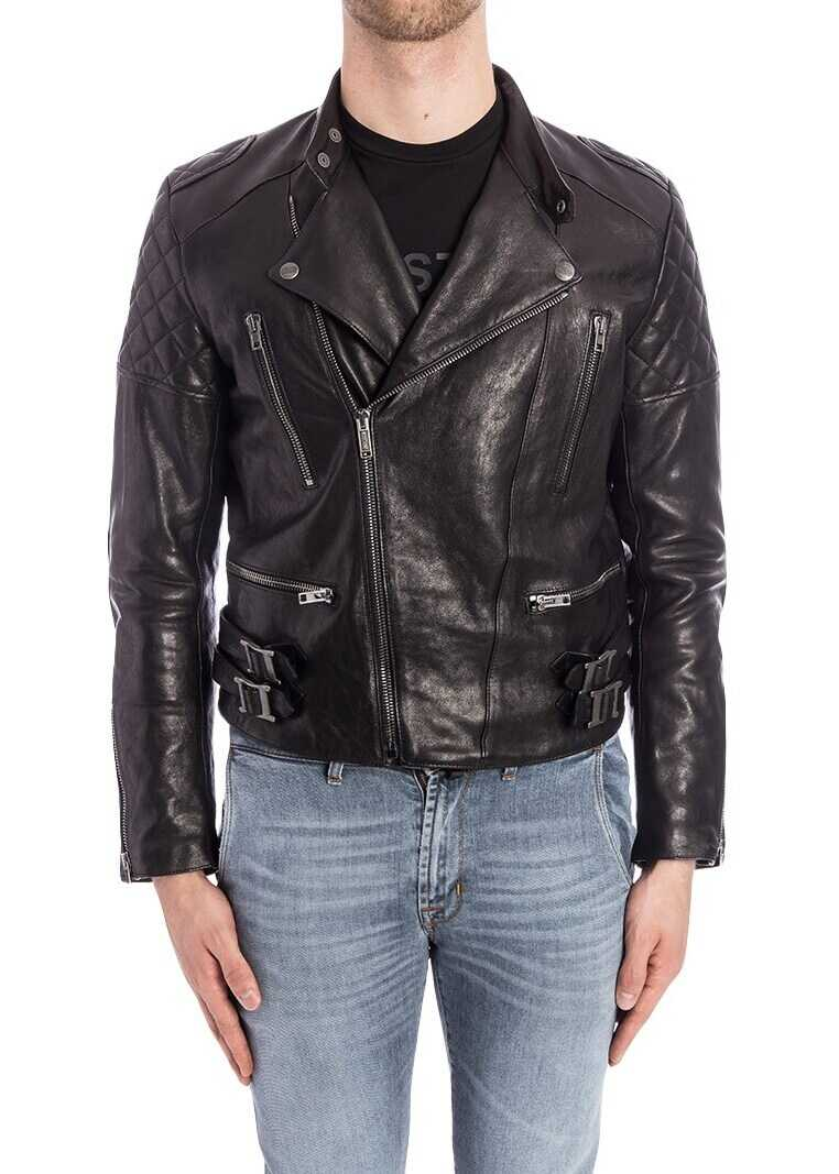 Moschino Leather Jacket Black