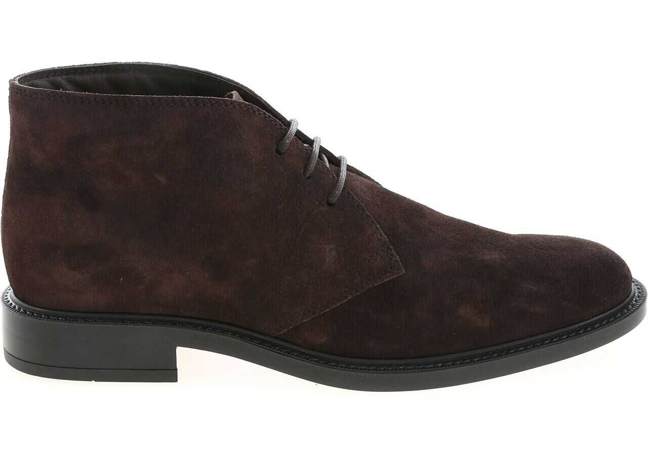 TOD'S Brown Suede Desert Shoes XXM45A00D80RE0S800 Brown imagine b-mall.ro