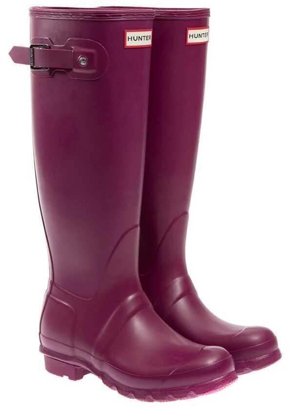 Hunter Rubber Boots Purple