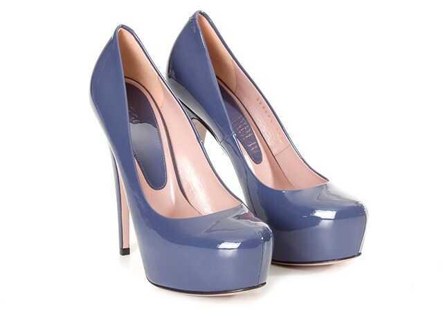 Gucci Patent Leather Pumps Blue