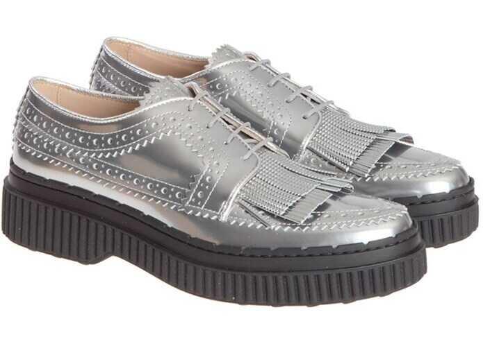 TOD'S Derby Shoes XXW39A0U900HG7B200 Silver imagine b-mall.ro
