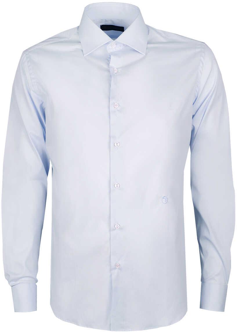 Camasa Barbati Trussardi Koszula Slim Błękitny