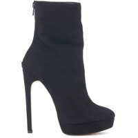 Ghete & Cizme Black Suede Leather Ankle Boots Femei