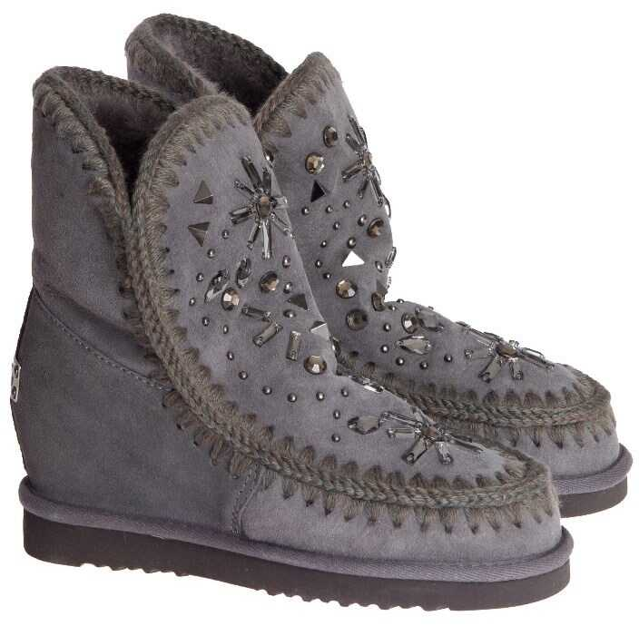 Mou Leather Boots Gray