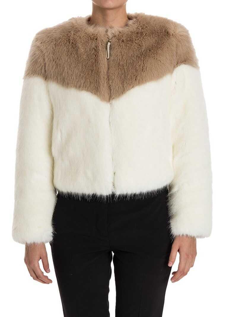 Dondup Eco-Fur Jacket White