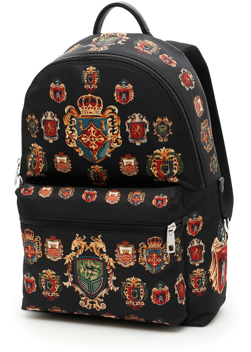 Dolce & Gabbana Badge Print Nylon Backpack STEMMI F.DO NERO