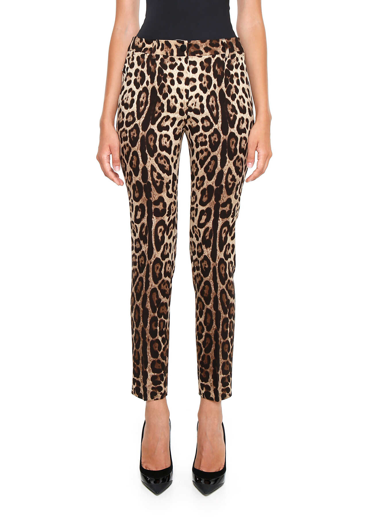 Pantaloni Femei Dolce & Gabbana Leopard Print Silk