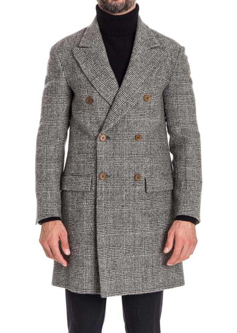 Ermanno Scervino Wool Coat Black imagine