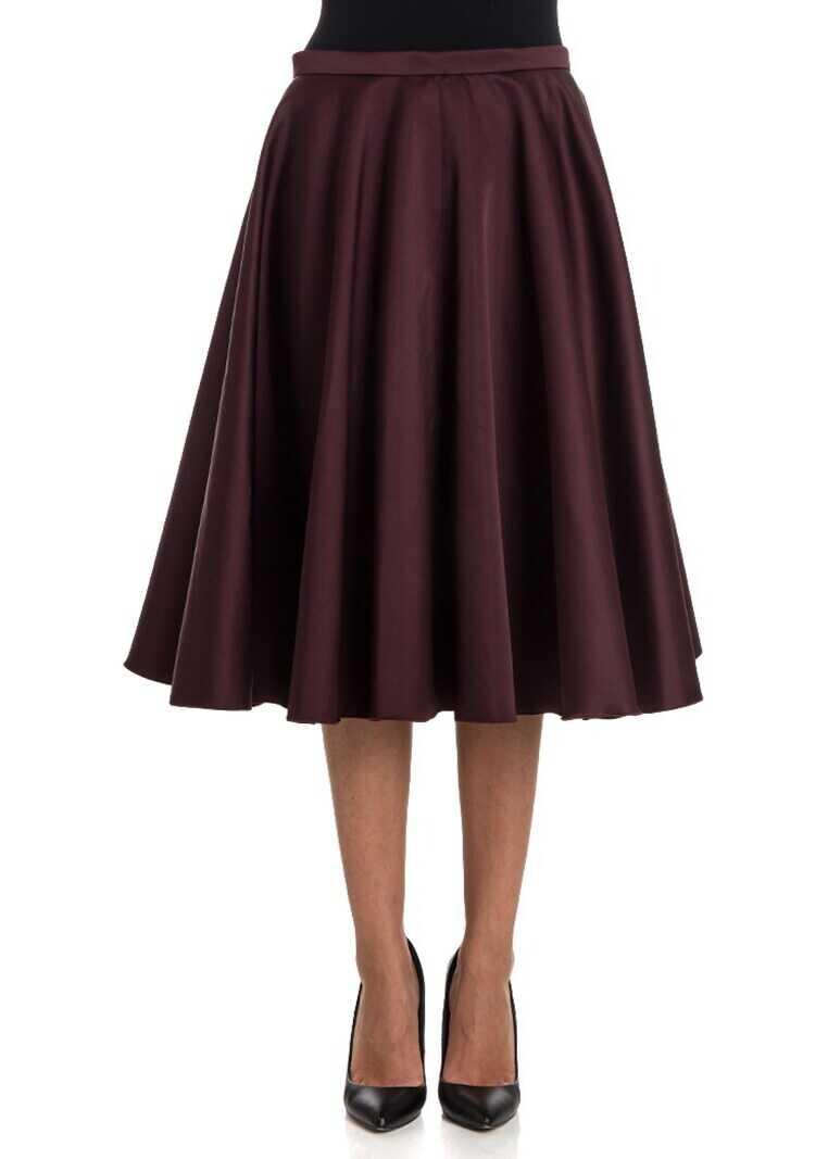 Fusta Femei Rochas Flared Skirt Red