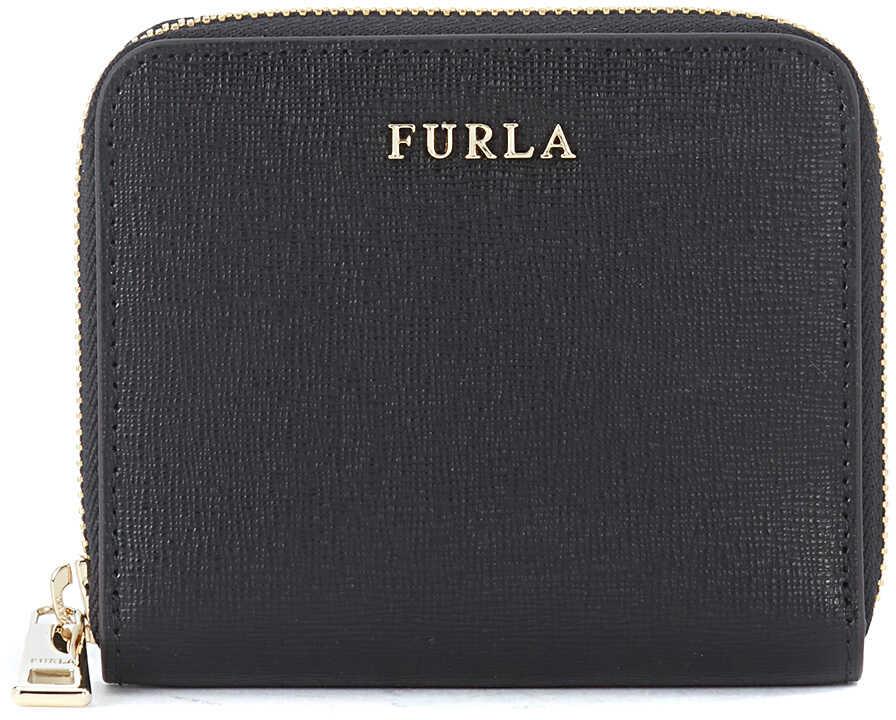 Furla Babylon Small Black Saffiano Leather Wallet Black
